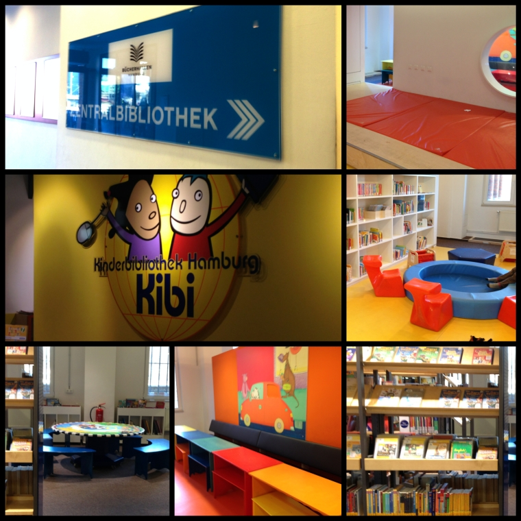 Bücherhalle Collage